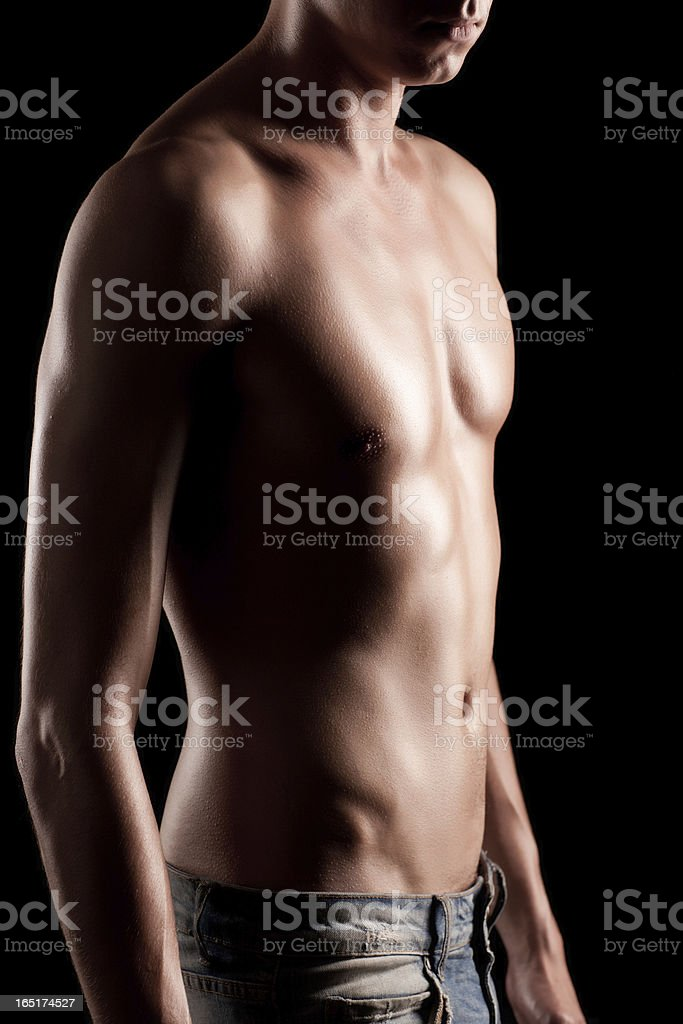 Man's body stock photo
