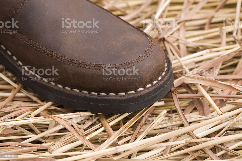 man's boot royalty-free stock photo
