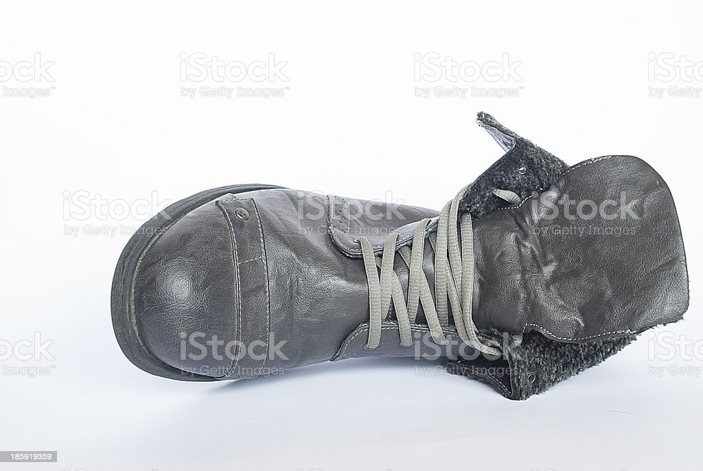 Mans boots isolated on white background royalty-free stock photo