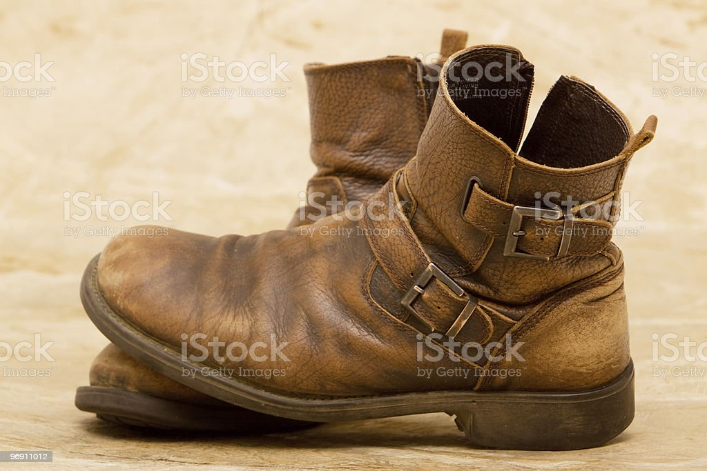 Man's boots royalty-free stock photo