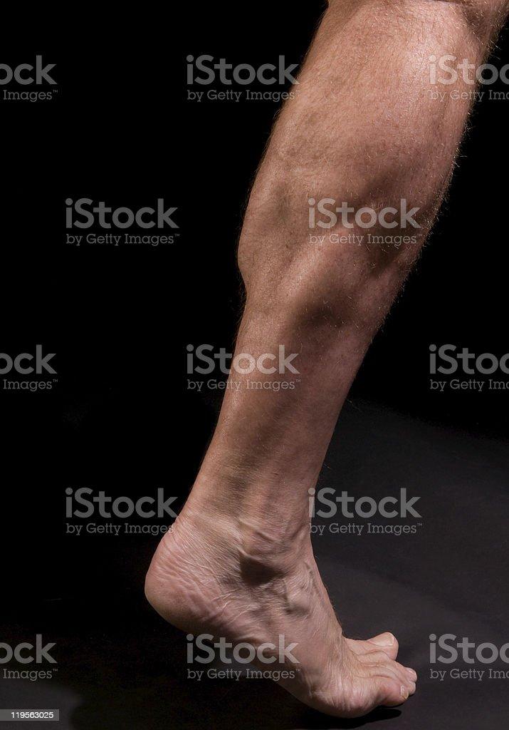 man's calf royalty-free stock photo