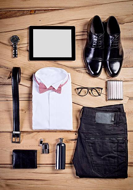 uomo casual business completo - oggetti personali foto e immagini stock