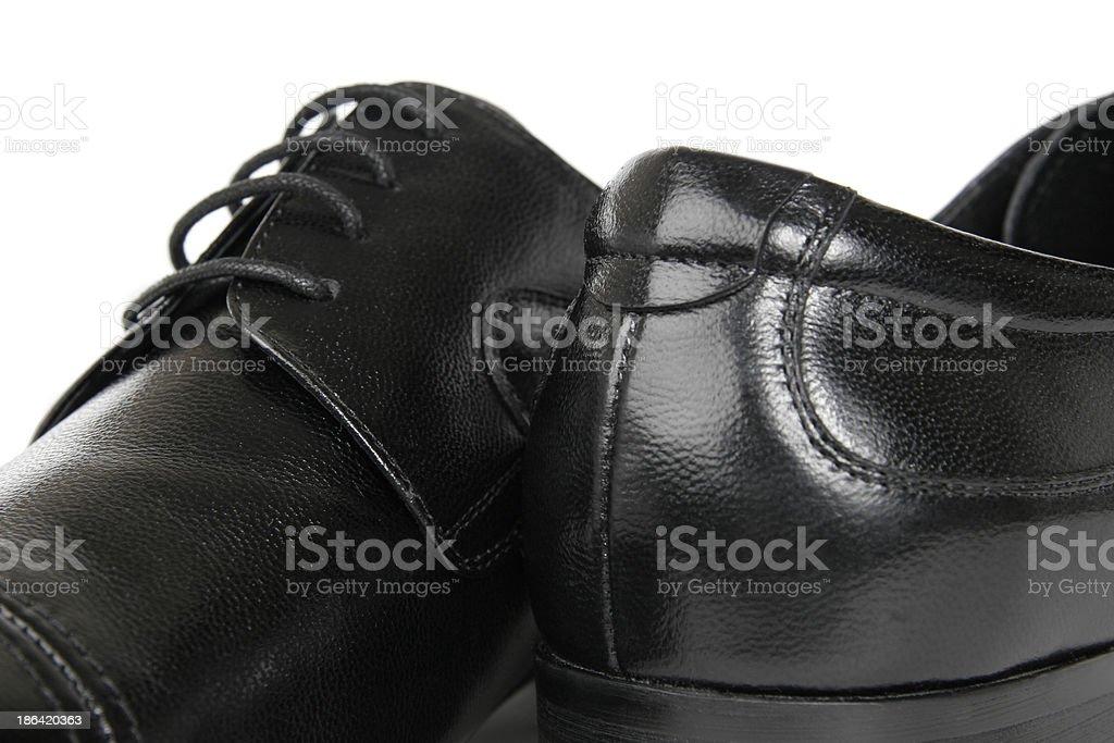 Man's elegant shoes royalty-free stock photo