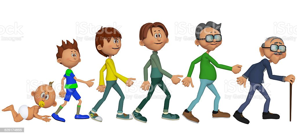 man's evolution stock photo