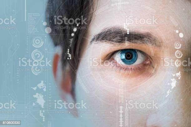 Mans eye and technological concept smart contact lens picture id810600330?b=1&k=6&m=810600330&s=612x612&h=up vb2hthigmxeynzum1ownnan8wqt bf fojkrw7hq=