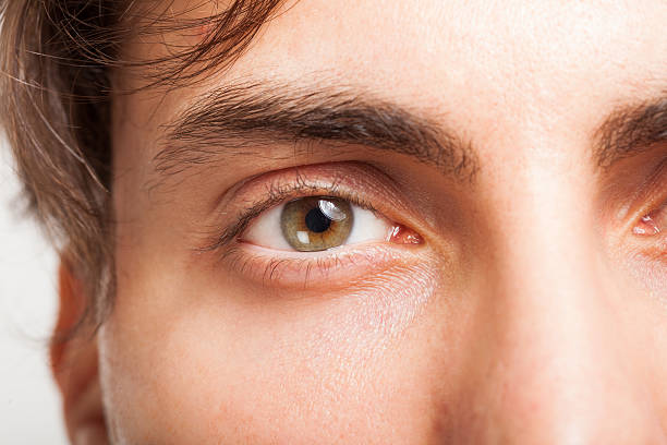 man's eye - eyelid stock pictures, royalty-free photos & images