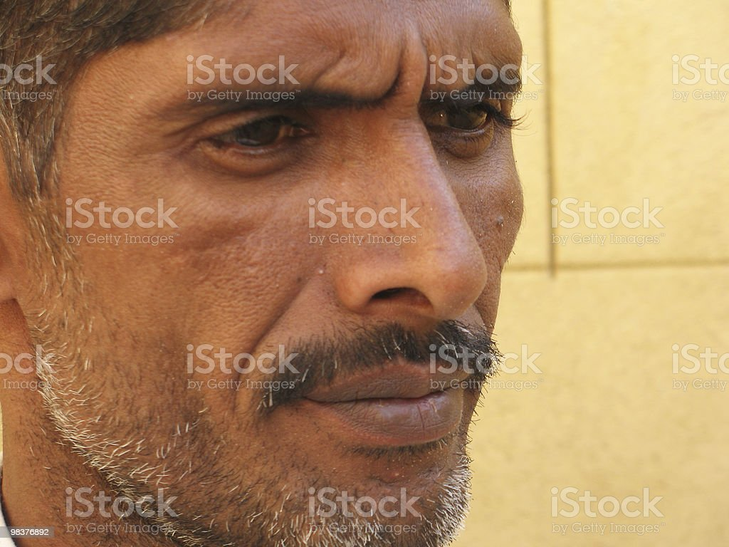 Man's face royalty-free stock photo