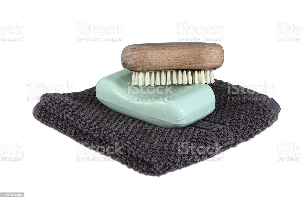 Mans Face Wash Items stock photo