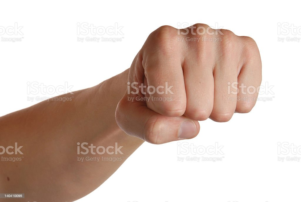 Man's fist royalty-free stock photo