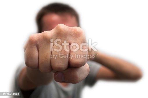 istock Man's fist 497470309