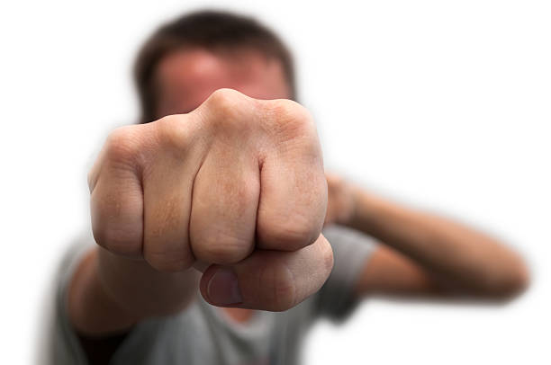 man's fist - punching stock photos and pictures