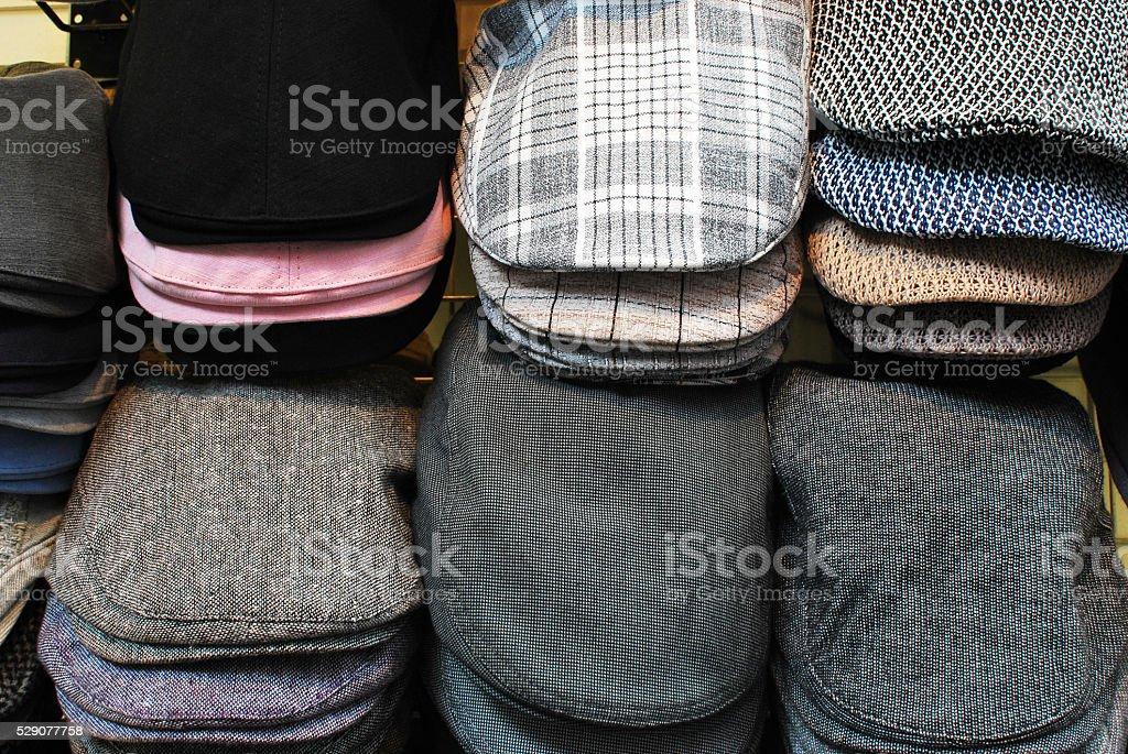 Man's flat cap stock photo