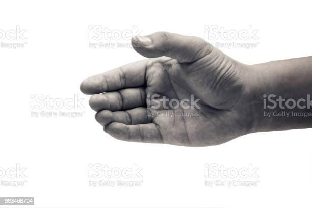 Mano Del Hombre Nada Coger Sobre Fondo Blanco Con Trazado De Recorte Foto de stock y más banco de imágenes de Adulto