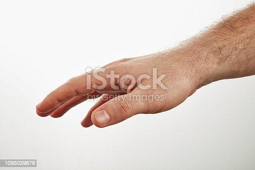 Man's Hand Holding