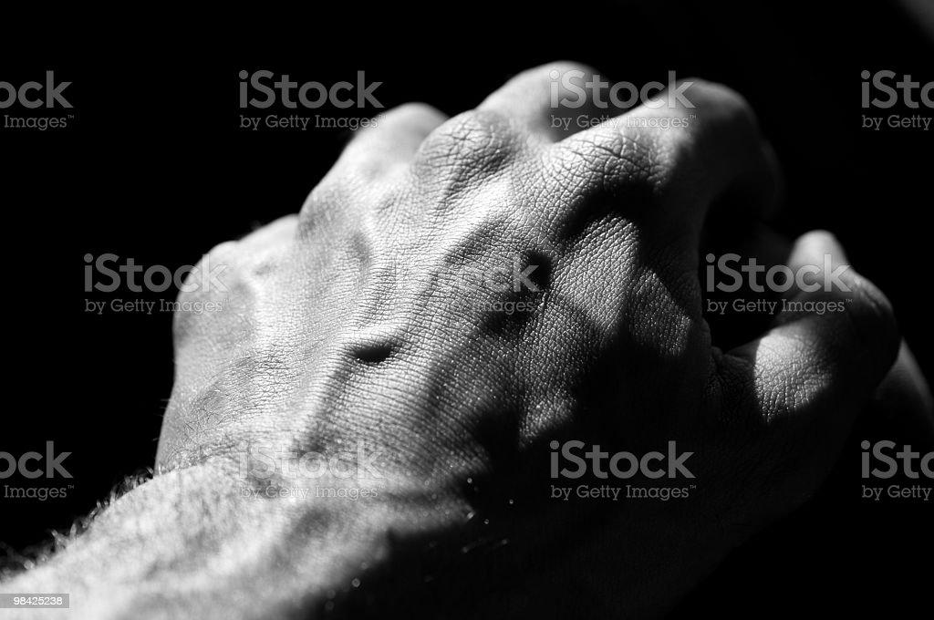 Mano dell'uomo in bianco e nero foto stock royalty-free