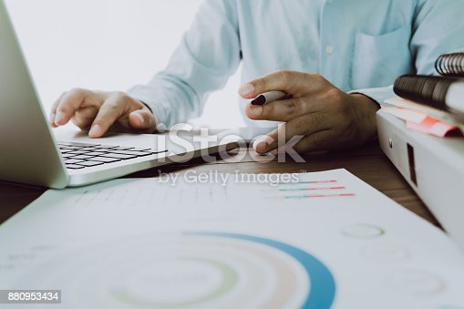 istock Man's hand is pressing a computer keyboard. It's a technology work. To make the work easier. Take your screen to put on advertising. 880953434
