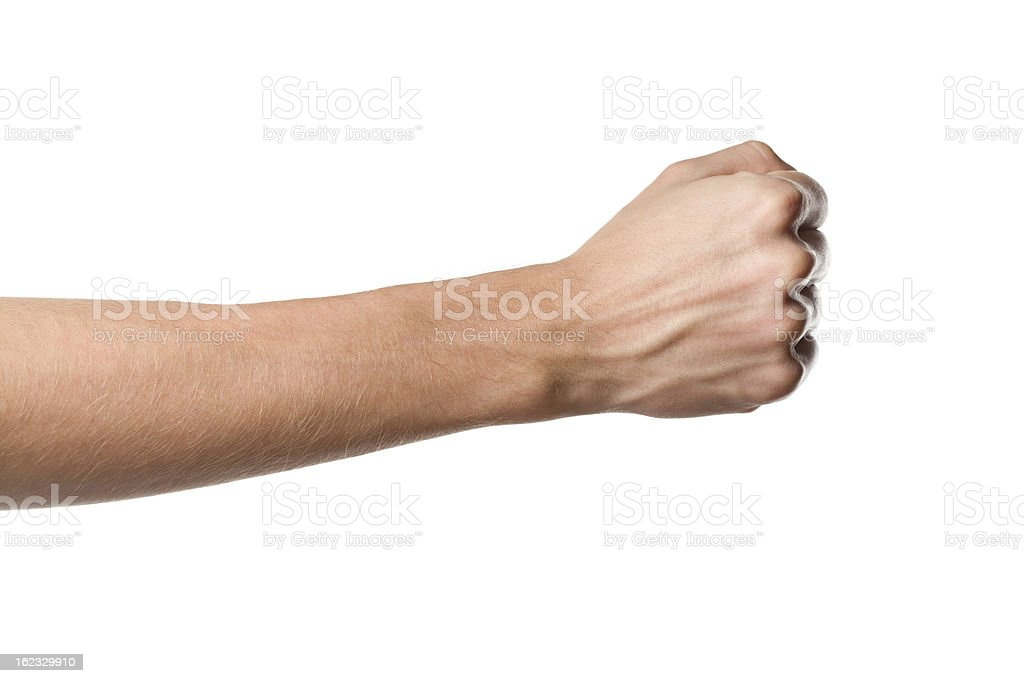 Man's hand isolated on white background bildbanksfoto