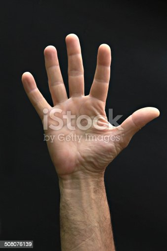 istock Man's hand 508076139