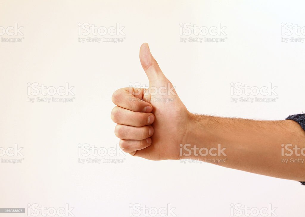 Man's hand showing  ok sign royalty-free stock photo