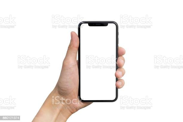 Mans hand shows mobile smartphone with white screen in vertical on picture id880121374?b=1&k=6&m=880121374&s=612x612&h=3lfs5btoov1rsdxlx0b26rnvsxld4tjtaojzrkiedce=