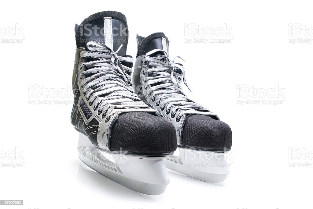 Man's hockey skates. royalty-free stock photo