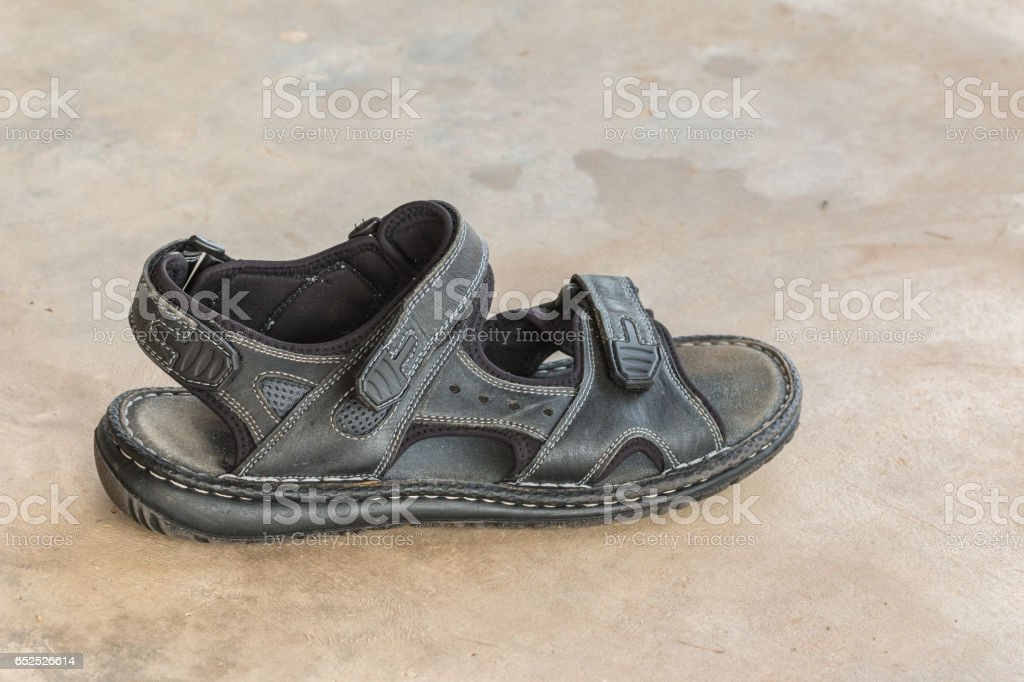 man's leatherette shoes stock photo