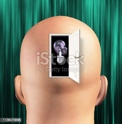 istock Mans mind opened to human light bulb 1126473595