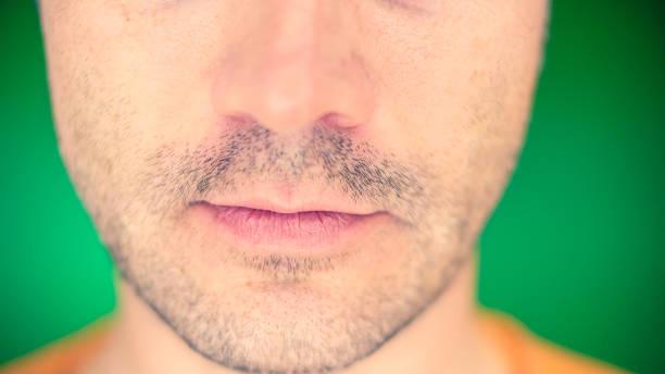 Man's mouth. - foto stock