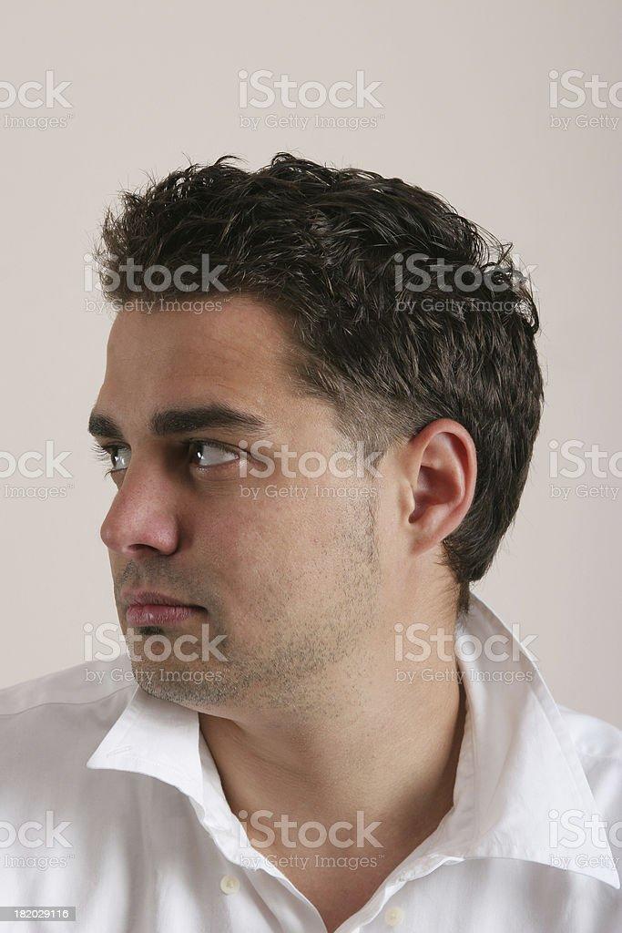 man's profile royalty-free stock photo