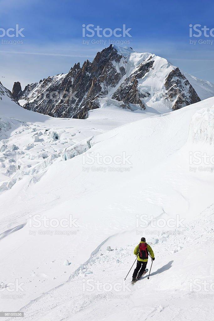 남성 스키타기 royalty-free 스톡 사진