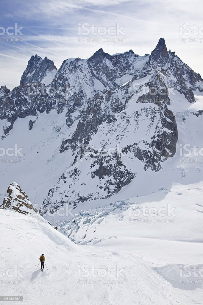 Man's skiing royalty-free stock photo