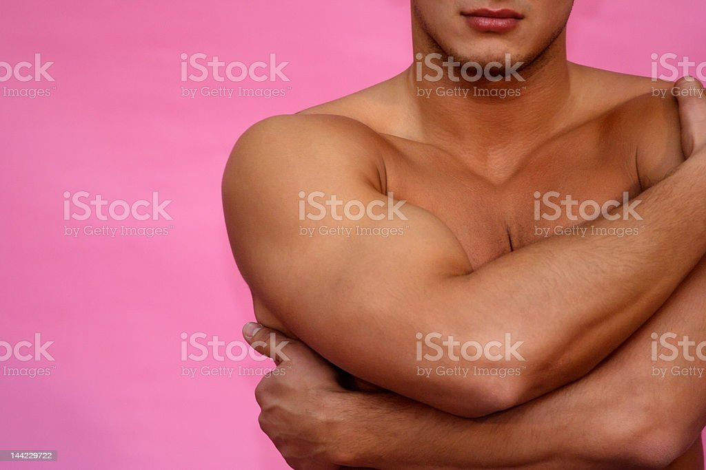 Man's torso stock photo