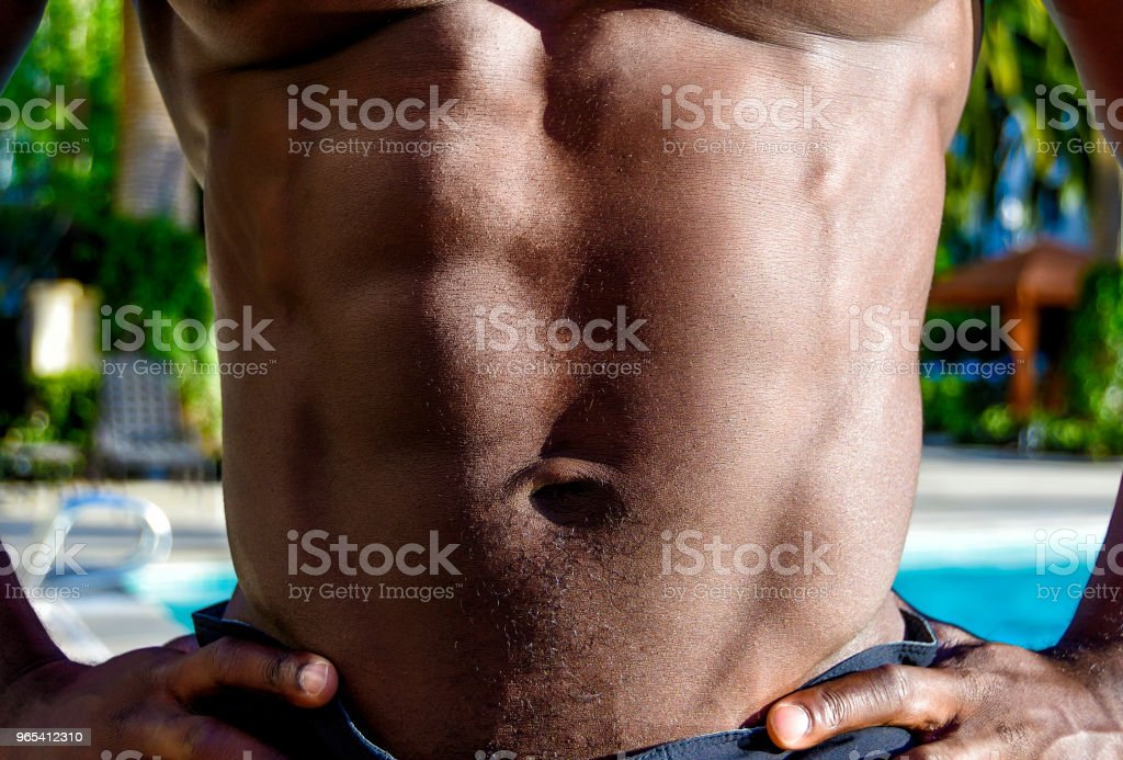 Man's Torso with Showing Six Pack royalty-free stock photo