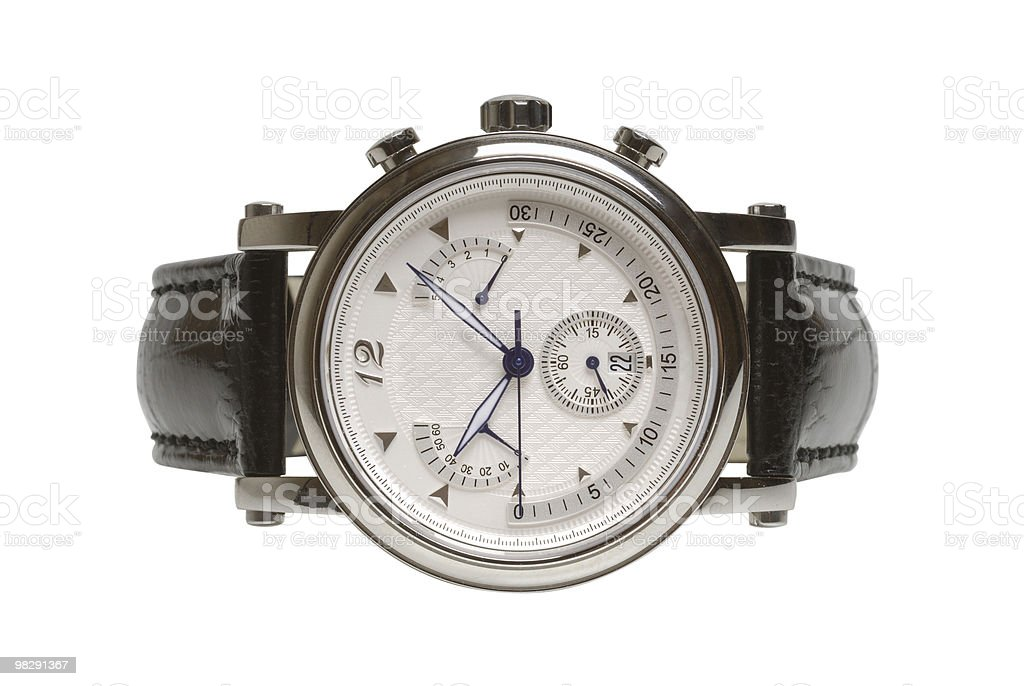 Man's watch royalty-free stock photo