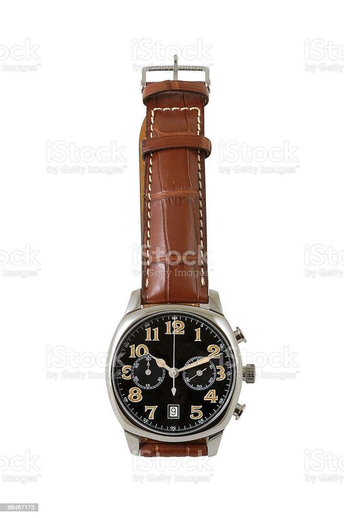 Man's watch royalty-free stock photo