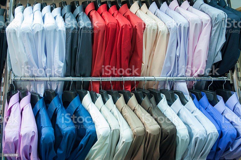Man's wear- businessman shirts stock photo