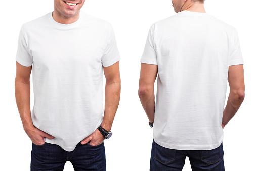 Mann Im Weißen Tshirt Stockfoto und mehr Bilder von Bildkomposition und Technik