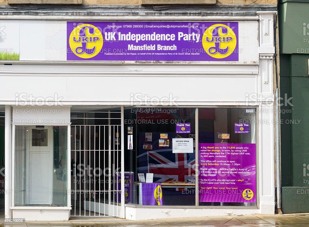 UKIP Mansfield Branch stock photo