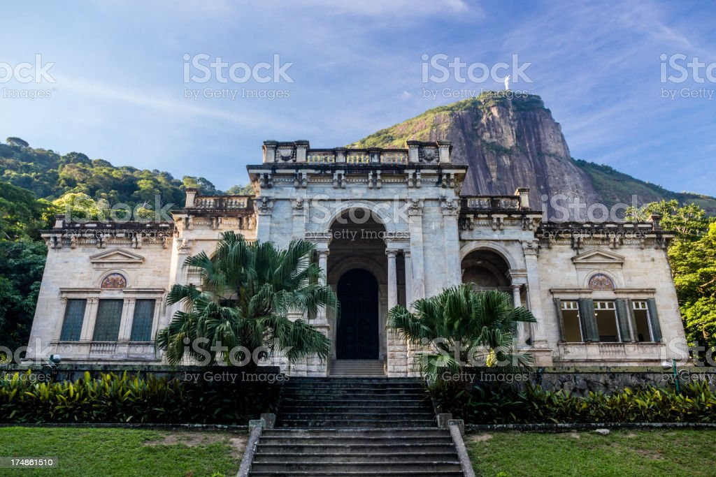 Mansion and Corcovado royalty-free stock photo