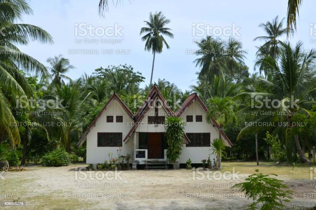 Mansion at Ao Khanom, Southern Thailand stock photo