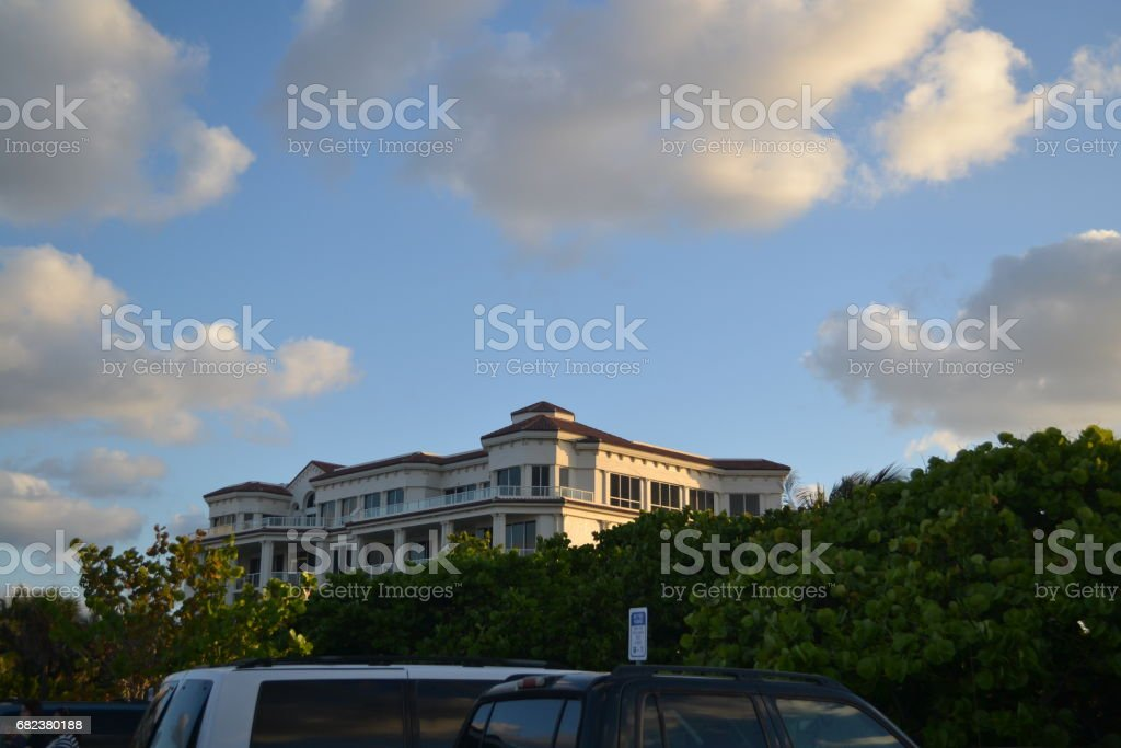 mansion at the beach royalty-free stock photo