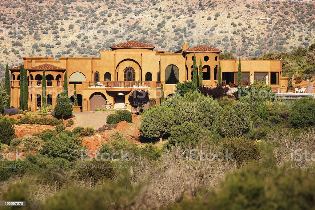 Mansion Desert Southwest Villa Architecture stock photo