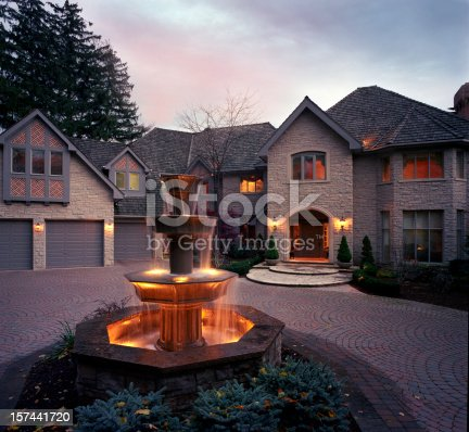 697393252 istock photo Mansion Exterior in the evening 157441720
