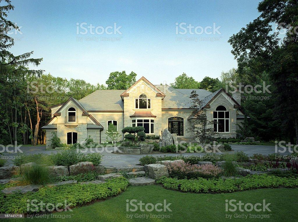 Mansion Exterior royalty-free stock photo