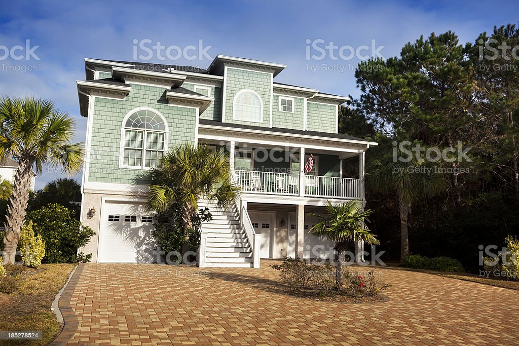 Mansion home in the country royalty-free stock photo