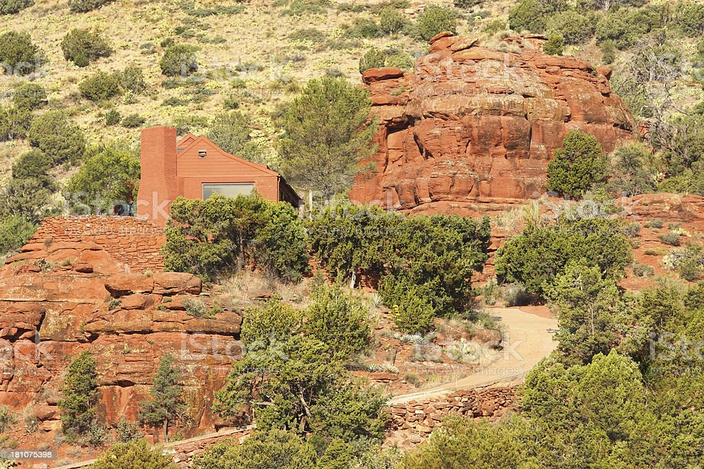 Mansion Home Red Rock Butte royalty-free stock photo
