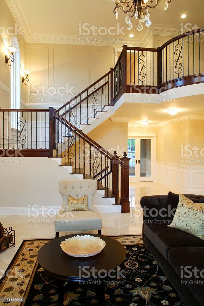 mansion house railing couch stock photo