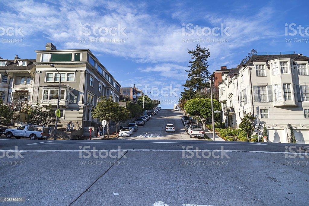 Mansion in San Francisco stock photo