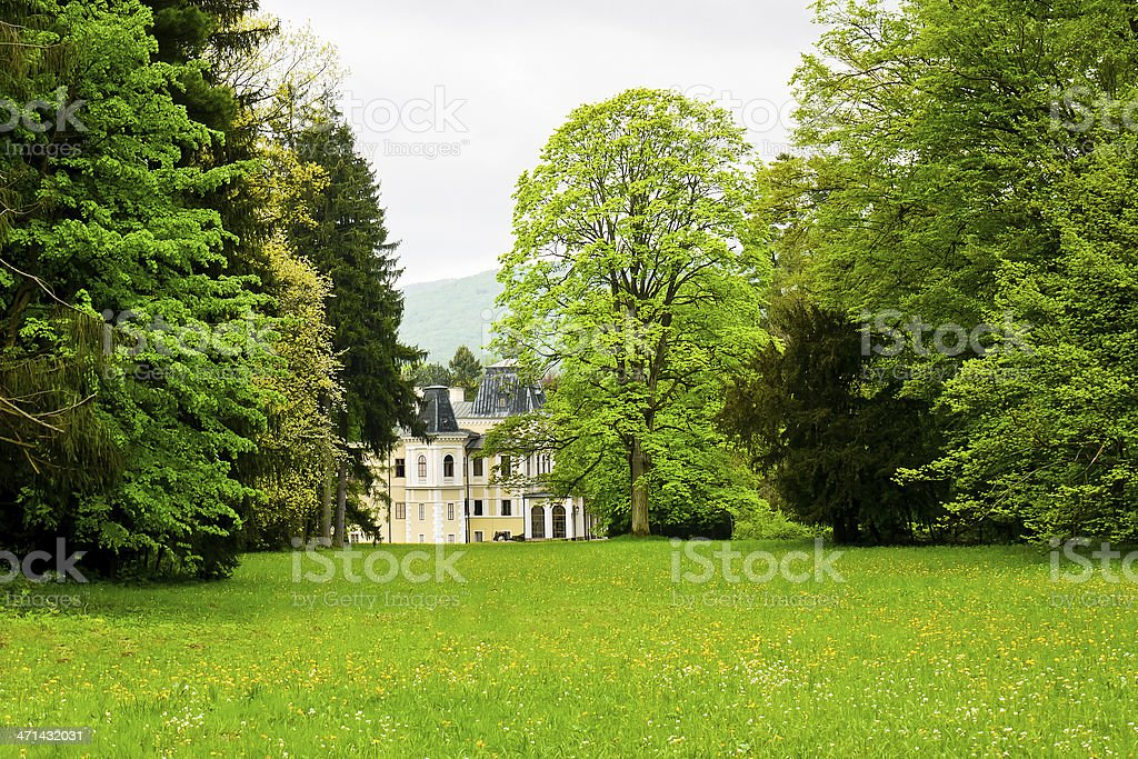 Mansion in the park royalty-free stock photo