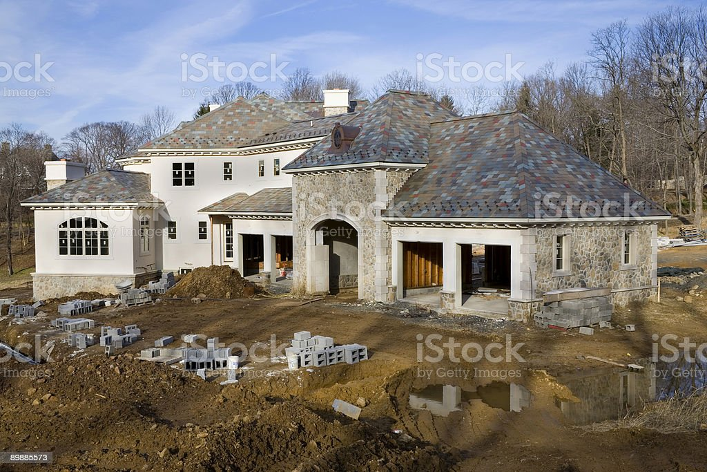 Mansion under Construction royalty-free stock photo